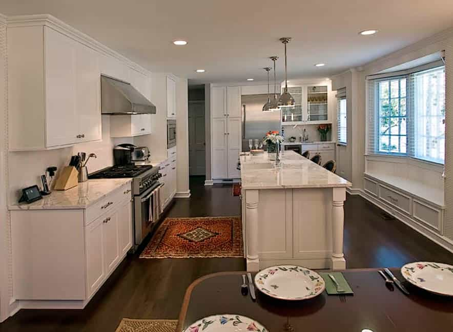 White kitchen ideas are currently a top - and gorgeous - trend, as seen in this Rydal PA home