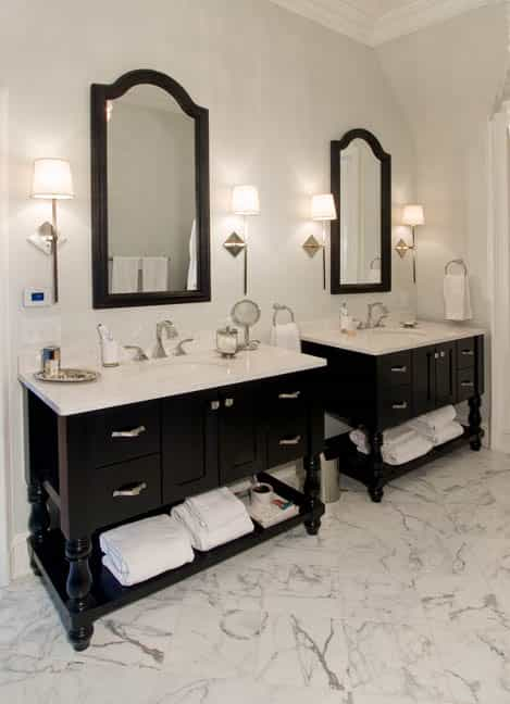 a transitional bathroom design in a princeton nj home - Bathroom Design Nj
