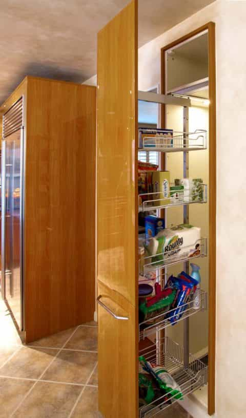 Specialty pantry cabinet