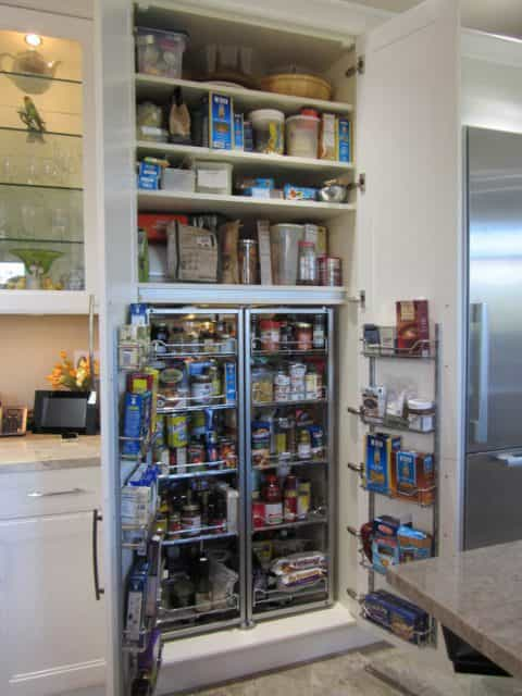 Pantry and organizational cabinetry