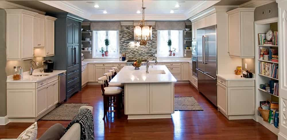 An Expansive, Transitional Kitchen Design Completed In Princeton, NJ.