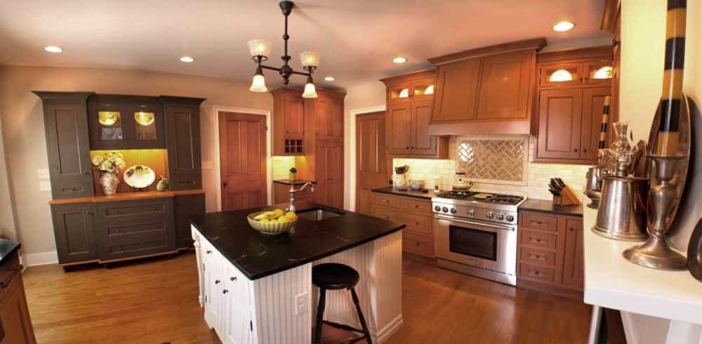 Superieur A Farmhouse Kitchen Design With Three Toned Cabinetry Remodeled In A  Highstown, NJ Home