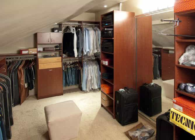 A closet system built in Yardley, PA.