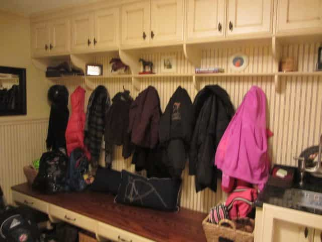 A mudroom helps keep a family in Princeton, NJ organized.
