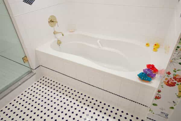 Another photo of a playful bathroom design in Newtown, PA